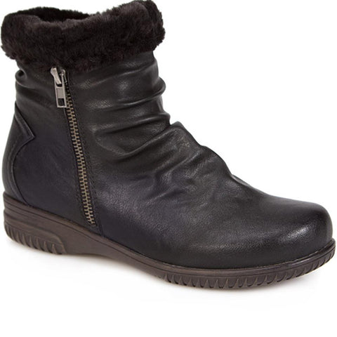 Ankle Boot with Slouch Effect & Trim - WBINS1800 / 127 077 Ankle Boot with Slouch Effect & Trim