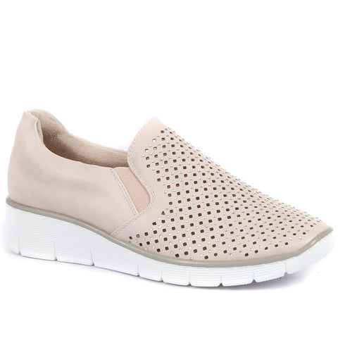 Pink Casual Slip On with Cut Outs