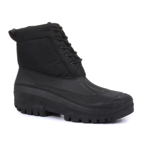 Black Men's Wide Fit Snow Boots