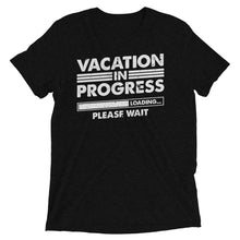 Load image into Gallery viewer, Vacation in progress black Short -sleeve t-shirt