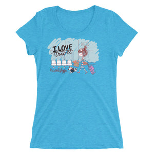 I love travel .Ladies' short sleeve t-shirt