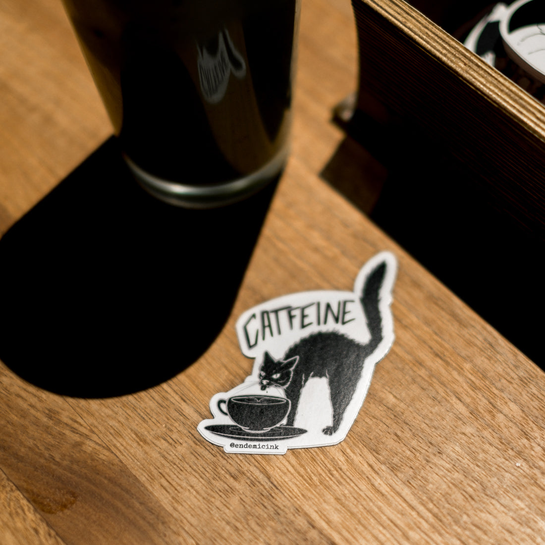 Endemic Ink Catfeine Sticker