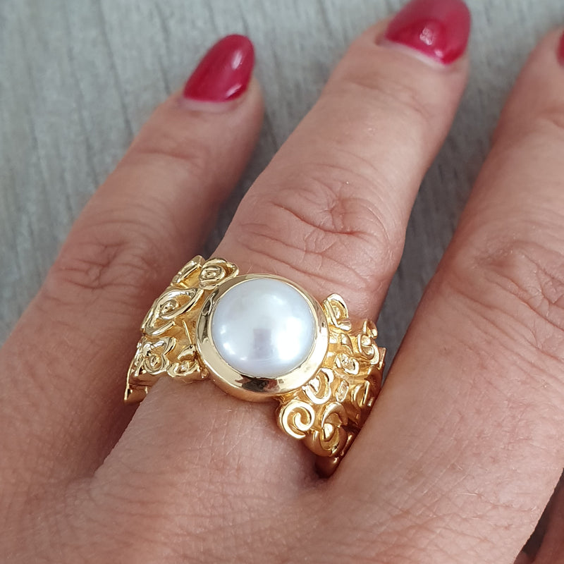 Fingerring Gold/Perle