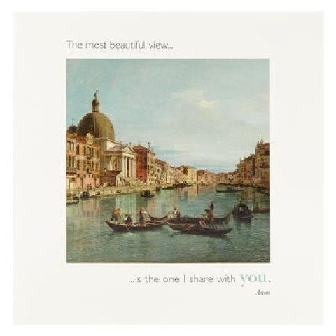 Hotchpotch Cards - The National Gallery Quotations - The Most Beautiful View is The One I Share with You