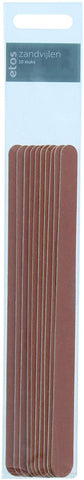 Etos Emery Boards Nail Files - Long - 10 Pack (EU Packaging)