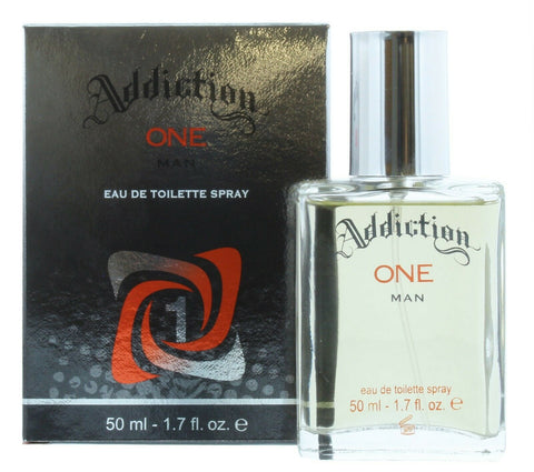 Addiction One Man Mens Eau De Toilette Spray Aftershave - 50ml