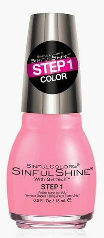 Sinful Colors Shine Nail Colour Polish Varnish Gel Tech - #1606 Yours Truly