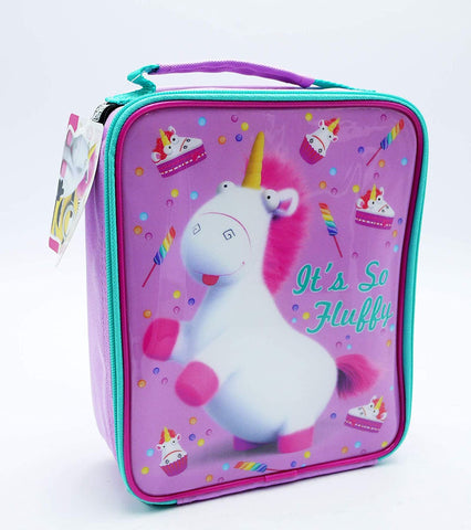 Dispicable Me Its So Fluffy Unicorn Pink Insulated Lunch Bag Box