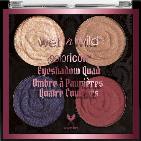 Wet N Wild Coloricon Eyeshadow Quad Pallet - E6868 - Secret Garden Rendezvous