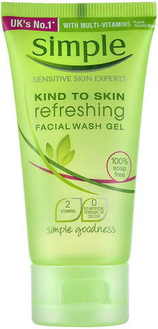 Simple Kind To Skin Refreshing Facial Wash Gel - Travel Size - 50ml