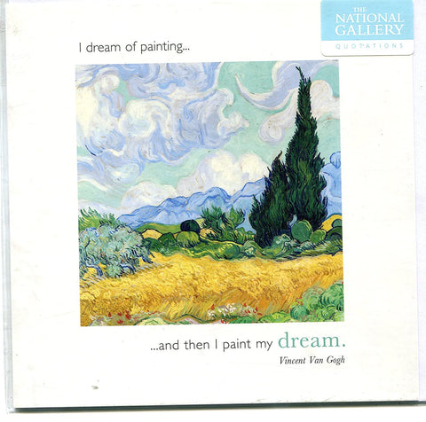 Hotchpotch card - The National Gallery Quotations I dream of painting ... and then I paint my dream