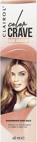 Clairol Colour Crave Non-Permanent Hair Makeup - 45ml - Shimmering Rose Gold
