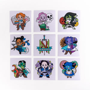 Mighty Nein Chibi Vinyl Decals