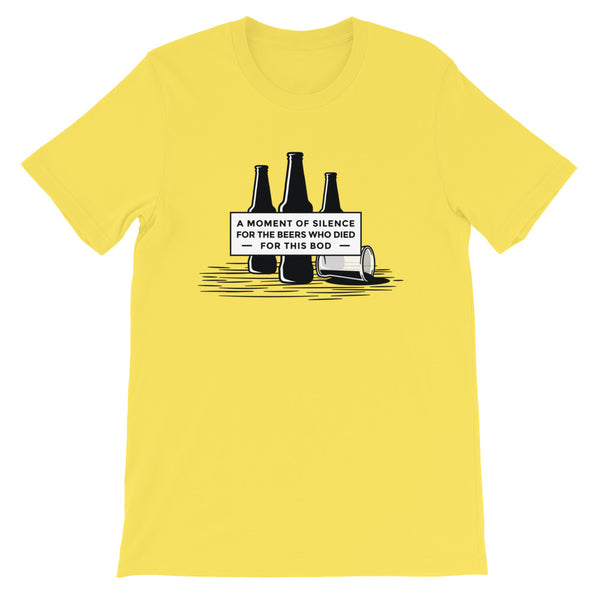 Moment of Silence Men's T-Shirt Yellow