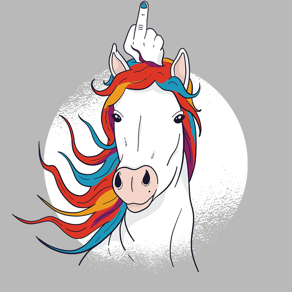 Unicorn Middle Finger - FunnyTeesLOL