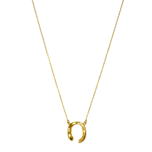 Horseshoe Necklace, Roman inspired, Goldplated, Silver, Antique, Irregular Shape ethical sustainable handcrafted in europe