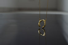 Load image into Gallery viewer, Horseshoe Necklace, Roman inspired, Goldplated, Silver, Antique, Irregular Shape