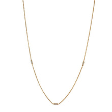 Load image into Gallery viewer, 14k-gold-minimal-necklace-accented-bar-mini-diamond-pave-rectangles-sustainable-ethical-eiv-handmade-jewelry-jewellery-basics-european
