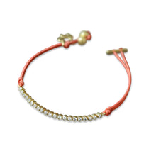 Load image into Gallery viewer, 14k-gold-string-tennis-bracelet-small-diamonds-colour-color-band-adjustable-playful-fine-jewellery-ethical-sustainable-handmade-europe-pink-nylon-accessories-minimal-dainty-feminine-girly-gaia-armcandy