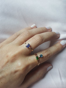 JOSEPHINE RING IN LONDON BLUE TOPAZ