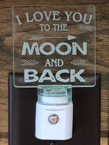 I Love you to the Moon LED Nightlight