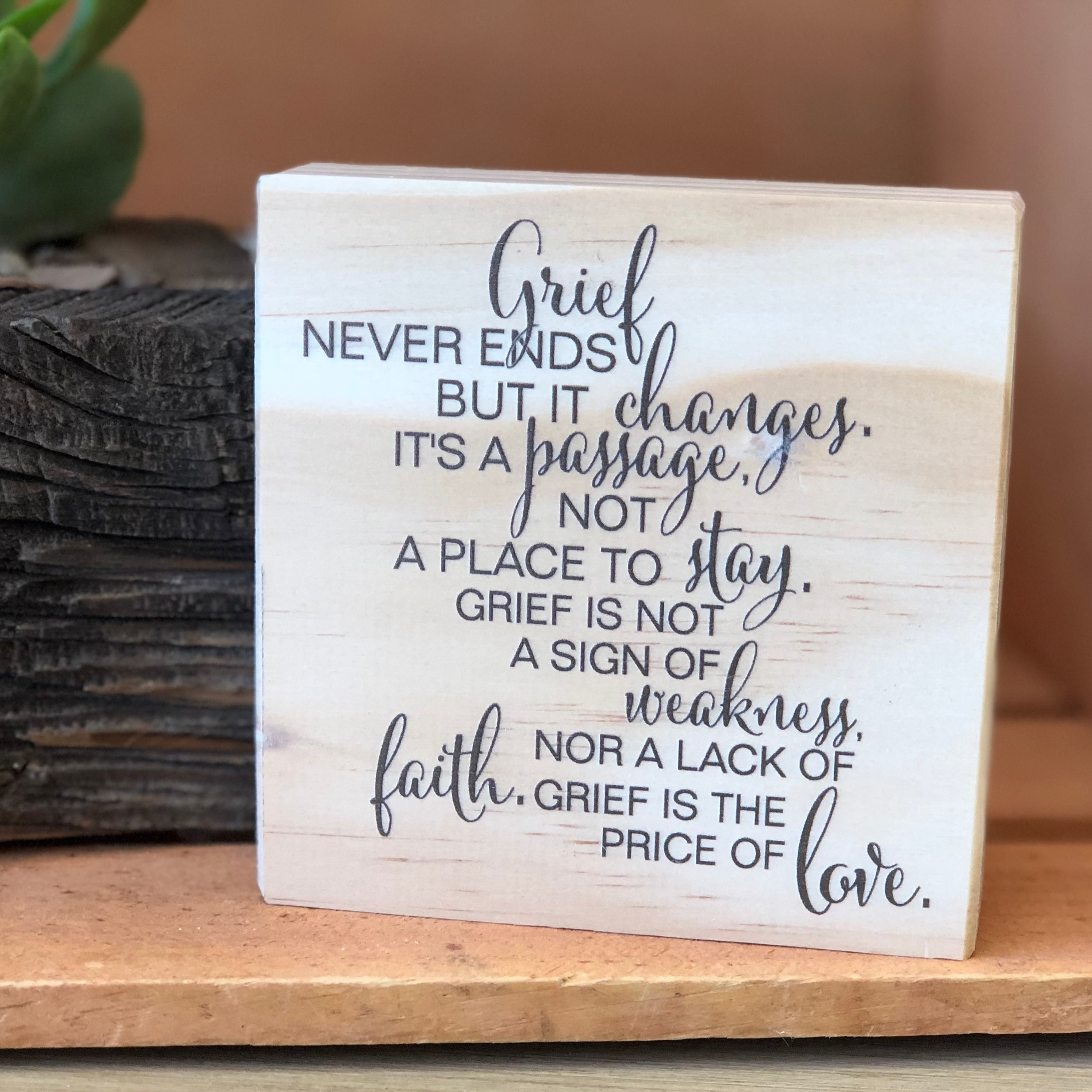 Grief Shelf Sign