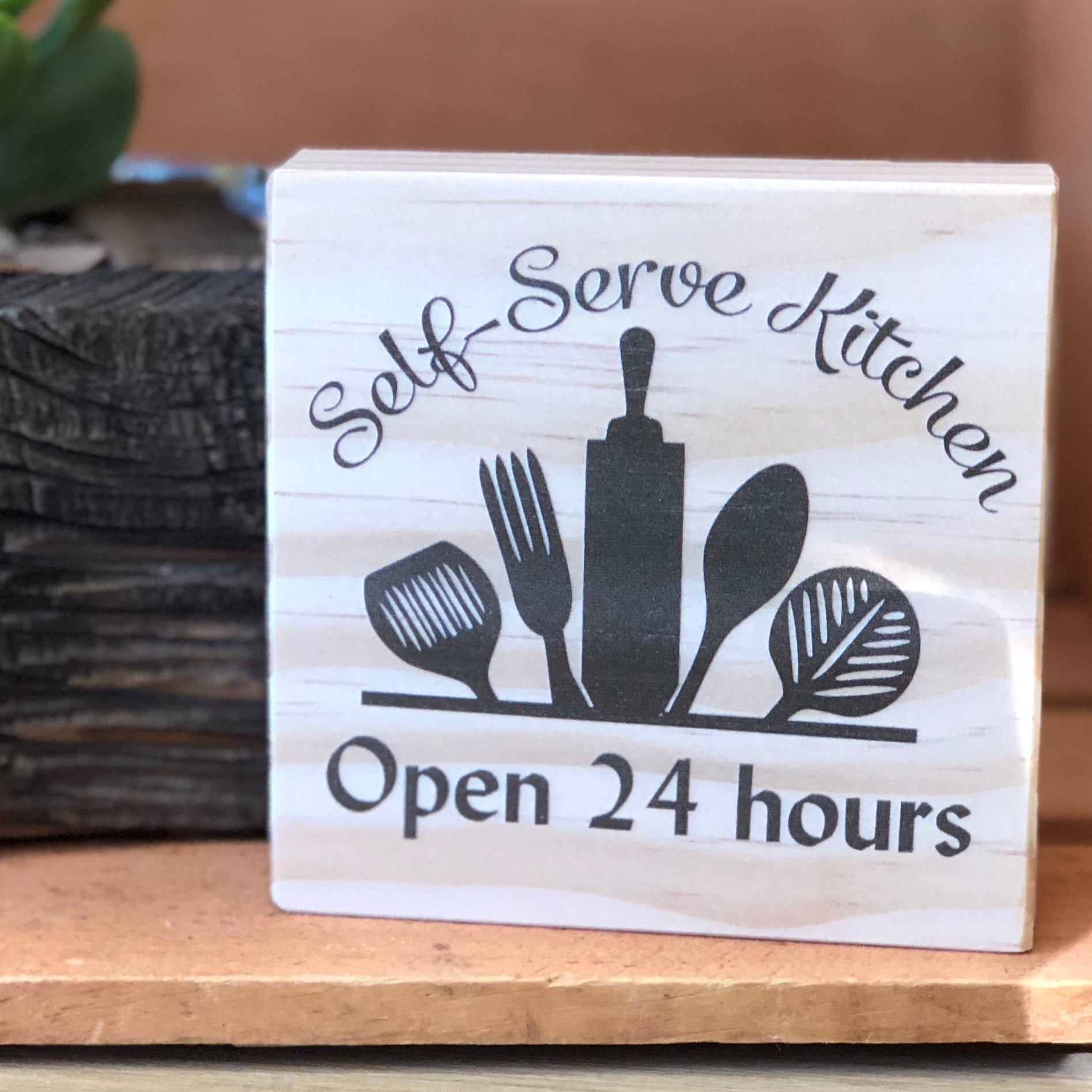 Self Serve Kitchen Shelf Sign