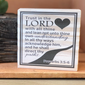 Trust in the Lord Shelf Sign