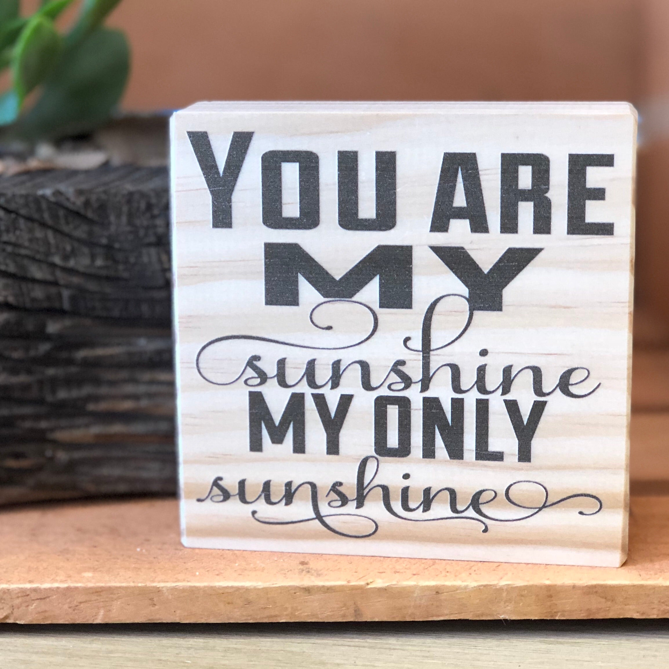 You are my Sunshine Shelf Sign