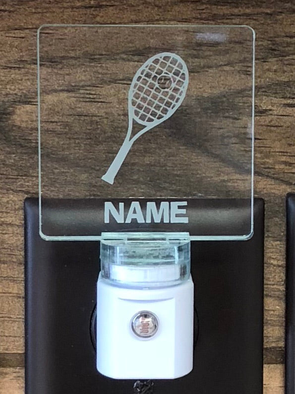 Tennis Personalized LED Nightlight