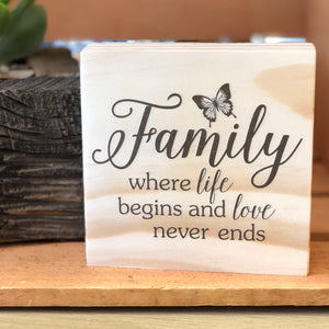Family Shelf Sign