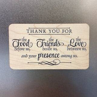 Thank you for the Food Wooden Magnet