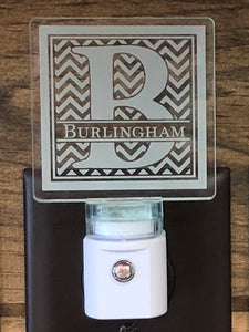 Chevron Initial/Name Personalized LED Nightlight