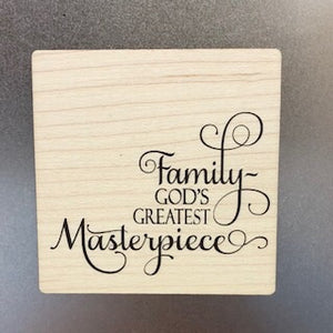 God's Greatest Masterpiece Wooden Magnet