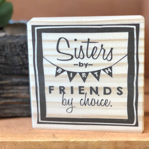 Sisters Shelf Sign