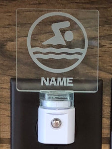 Swimmer Personalized LED Nightlight
