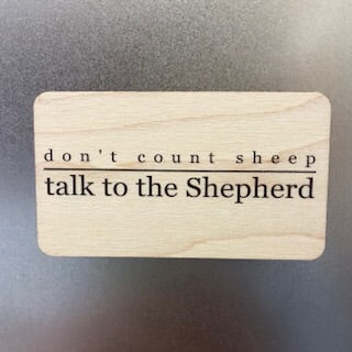 Don't count Sheep Wooden Magnet