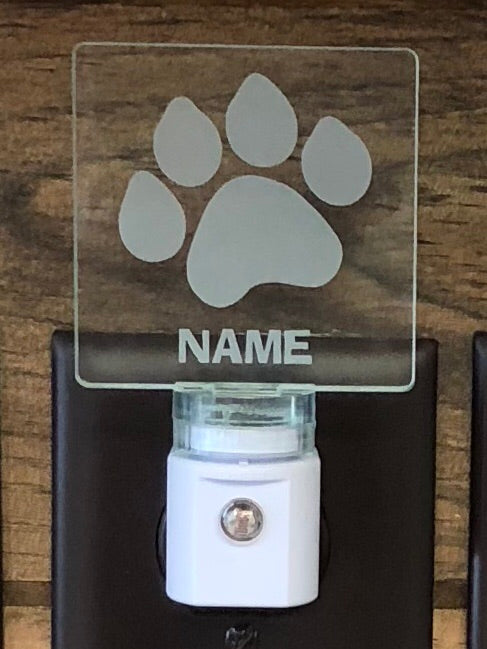 Paw Print Personalized LED Nightlight