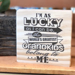 World's Greatest Grandkids Shelf Sign