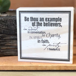 Be Thou an Example Shelf Sign