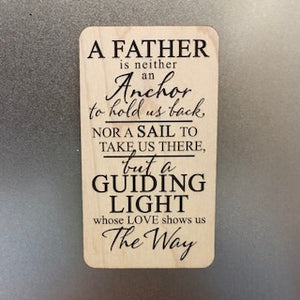 A Father Wooden Magnet