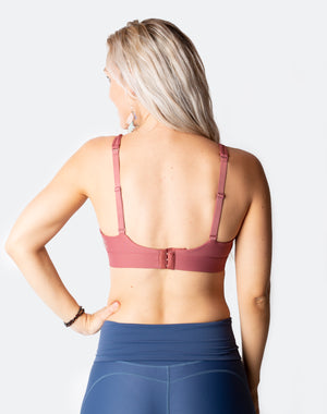 rouge breastfeeding bra back showing crossover bra straps
