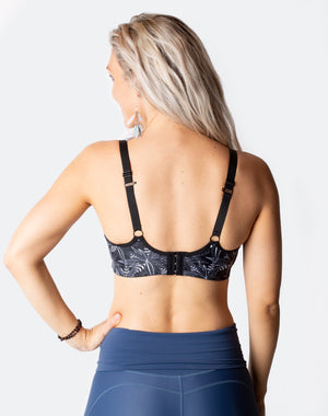flower maternity bra back view