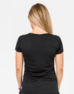 black breastfeeding t-shirt back