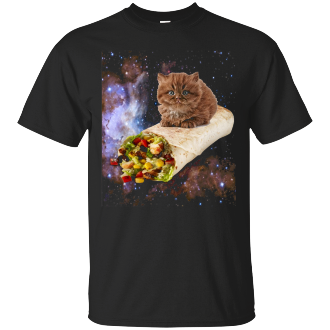 Cat on a Burrito in Space Kitty Kitteh Tee Shirt T Shirt