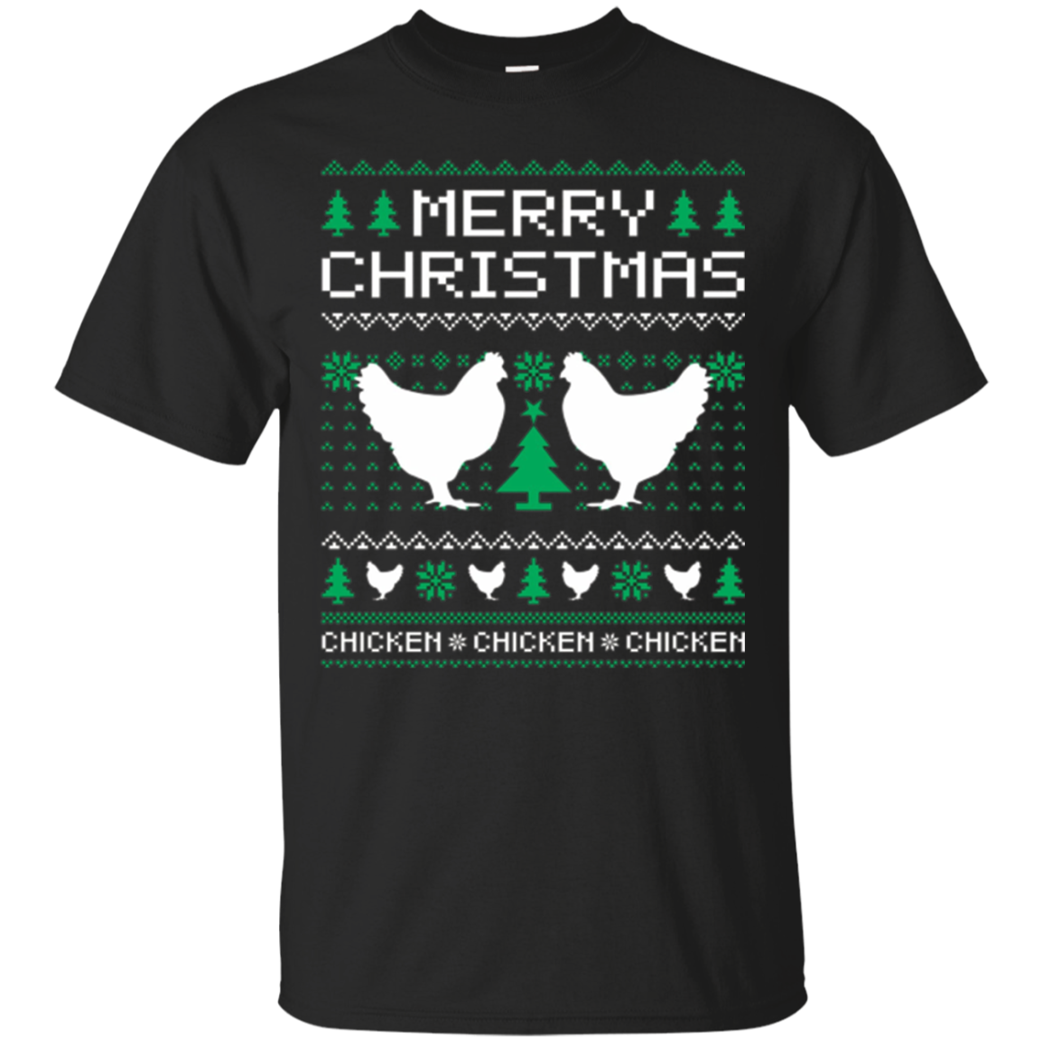Chicken Ugly Christmas Sweater T shirt