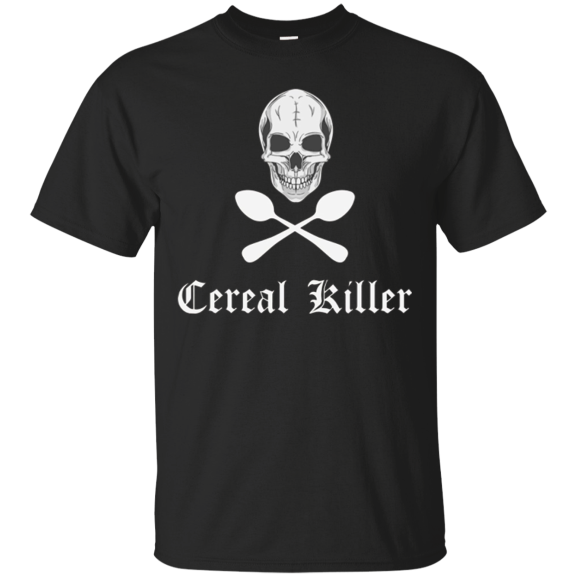 Cereal Killer Funny Serial Spoons Halloween Costume Shirt