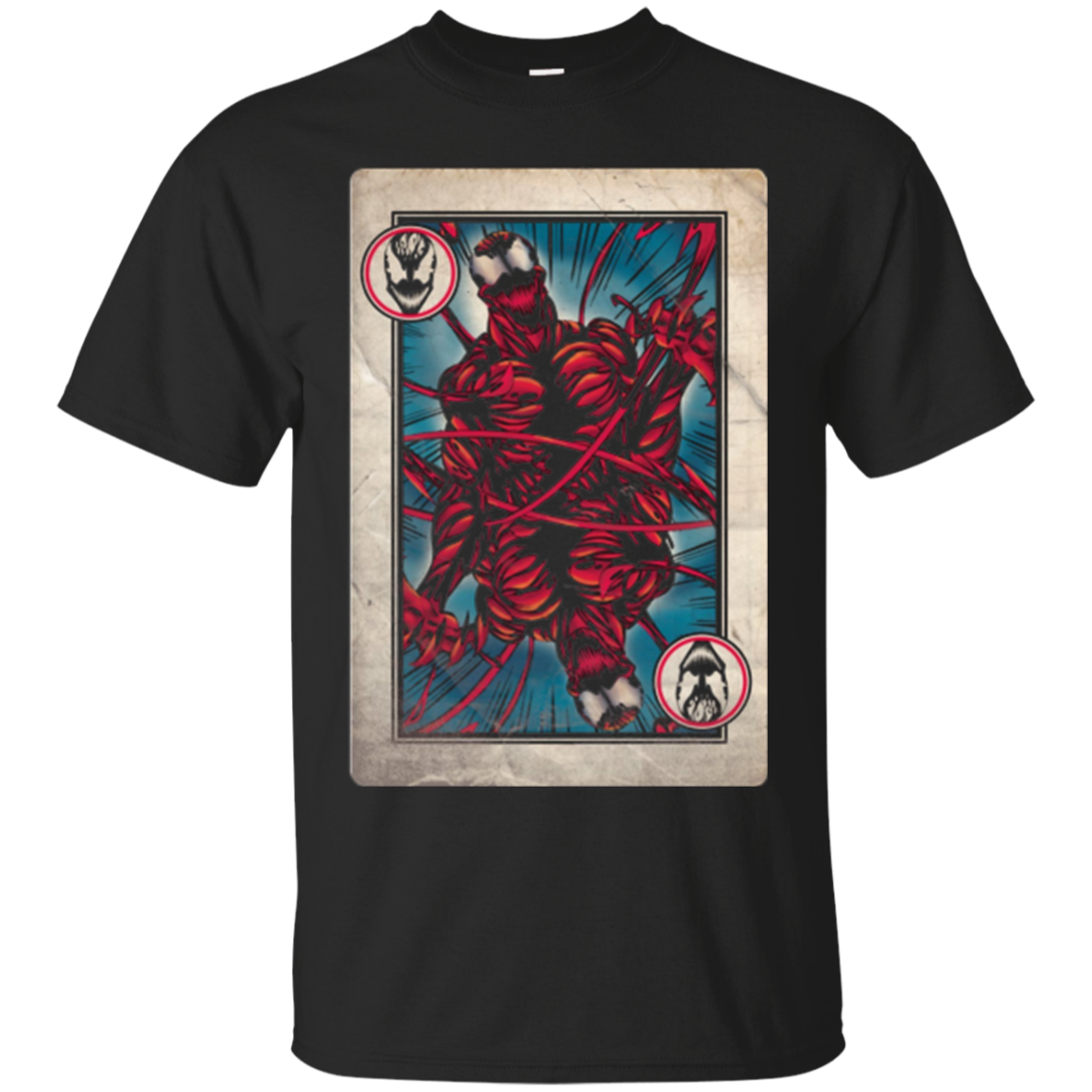 Carnage Playing Card Graphic T Shirt