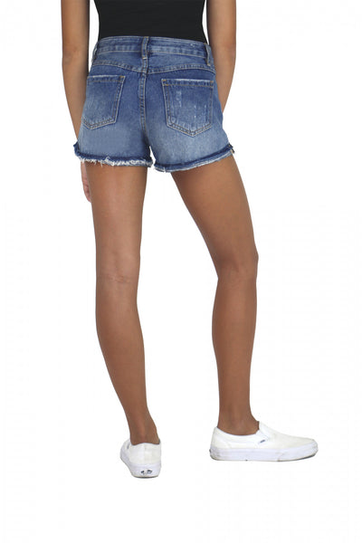Girls Tractr Cut-off Denim Distressed Shorts Duckthreads