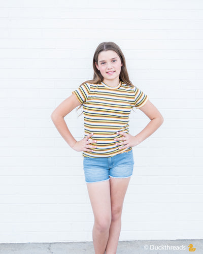 Tractr Stretch Denim Shorts for Girls Duckthreads